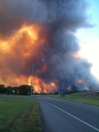 Bastrop fires from our street in Smithville.